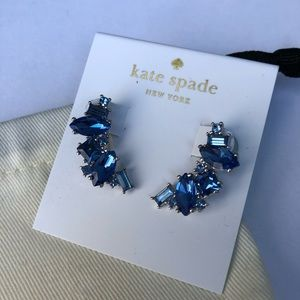 NWT! Kate Spade Blue Cluster Crawler Earrings